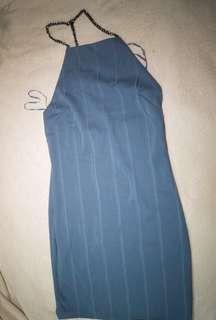 Topshop Chain Strap Bandage Dress