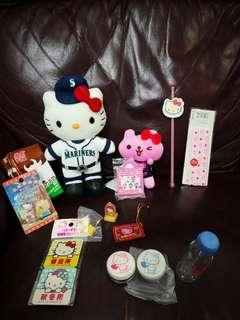Hello Kitty 日本絕版擺設什物大平賣共12件