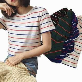 Korean Style Women Stripe Top