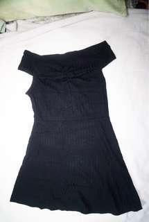 Forever 21 Ribbed Off Shoulder Dress - Black