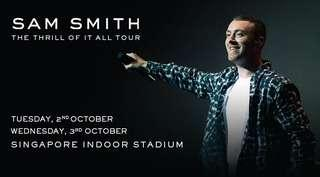 A pair of Sam Smith tickets (3/10/2018)
