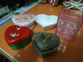 🚚 心型/3層抽屜 小收納盒(賣場滿百贈