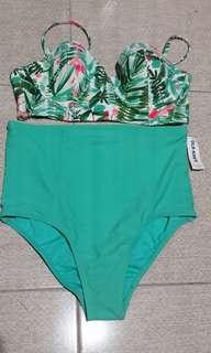 Old Navy Mint Green 2 piece swimsuit