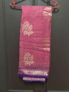 Silk Saree in pink and purple