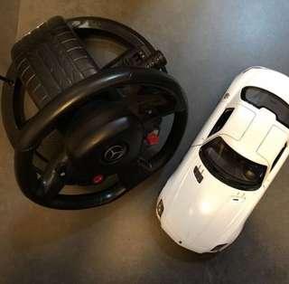 benz 搖控車 軚盤 玩具 生日 禮物 小童 方向感