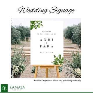 banner nikah / signage wedding