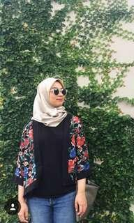 Floral outerwear top