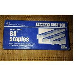 100% 全新 Stanley Bostitch B8 拱型釘書釘 5000pcs (美國製造)