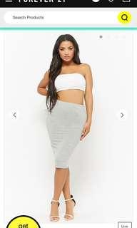 Forever 21 stretch pencil skirt in gray