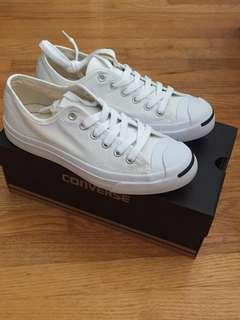 BNIB white Converse Jack Purcell canvas ox
