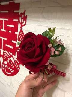 婚後物資 紅色大size襟花