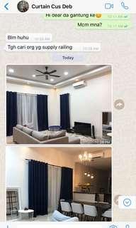 Home made curtains W148xH200cm