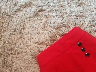 ⚡RED cute Short