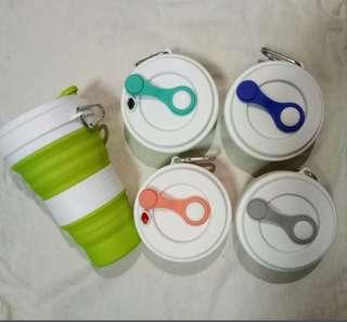 Collapsible Silicon Travel Cup (550ml)