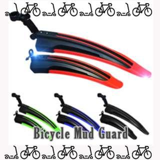 Bicycle Mud guard fender flap front and back set