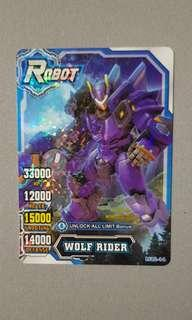 Hero Of Robots (HOR) Wolf Rider M12-14 Crystal Rare Card