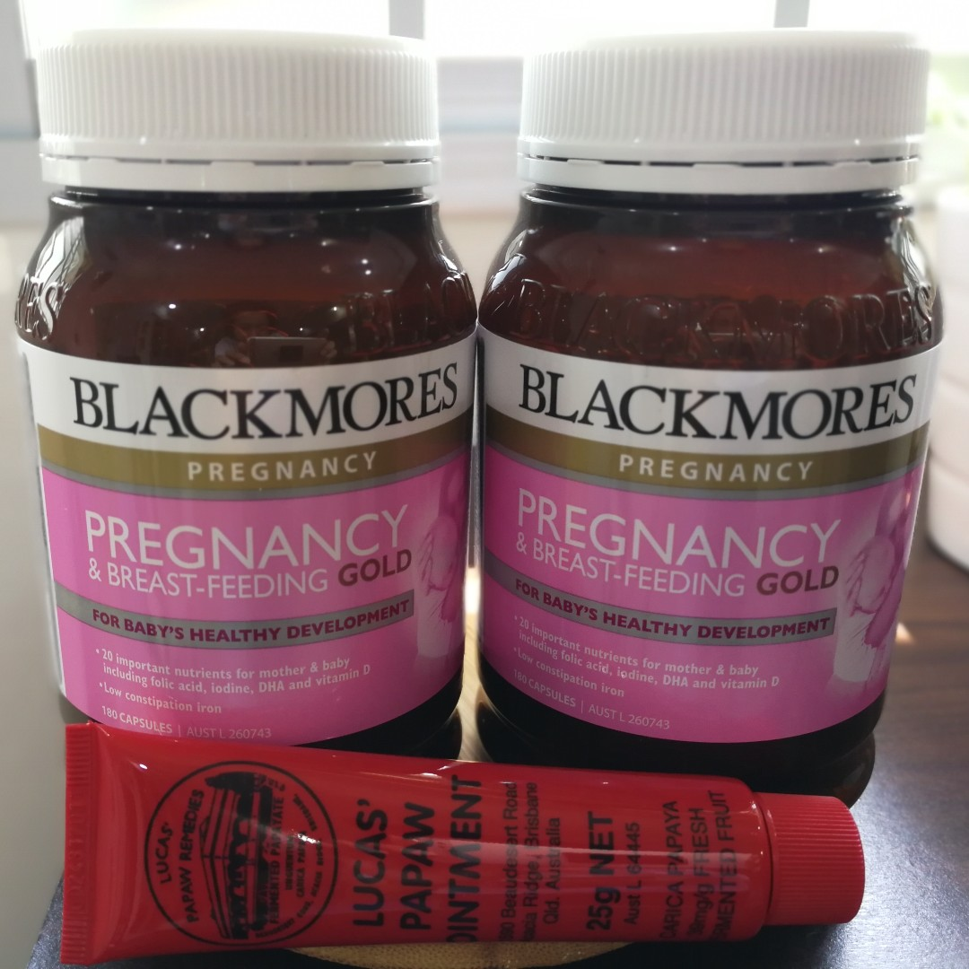 In Stock 2x Blackmores Pregnancy Breast Feeding Gold 180 Caps Babies Kids Maternity On Carousell
