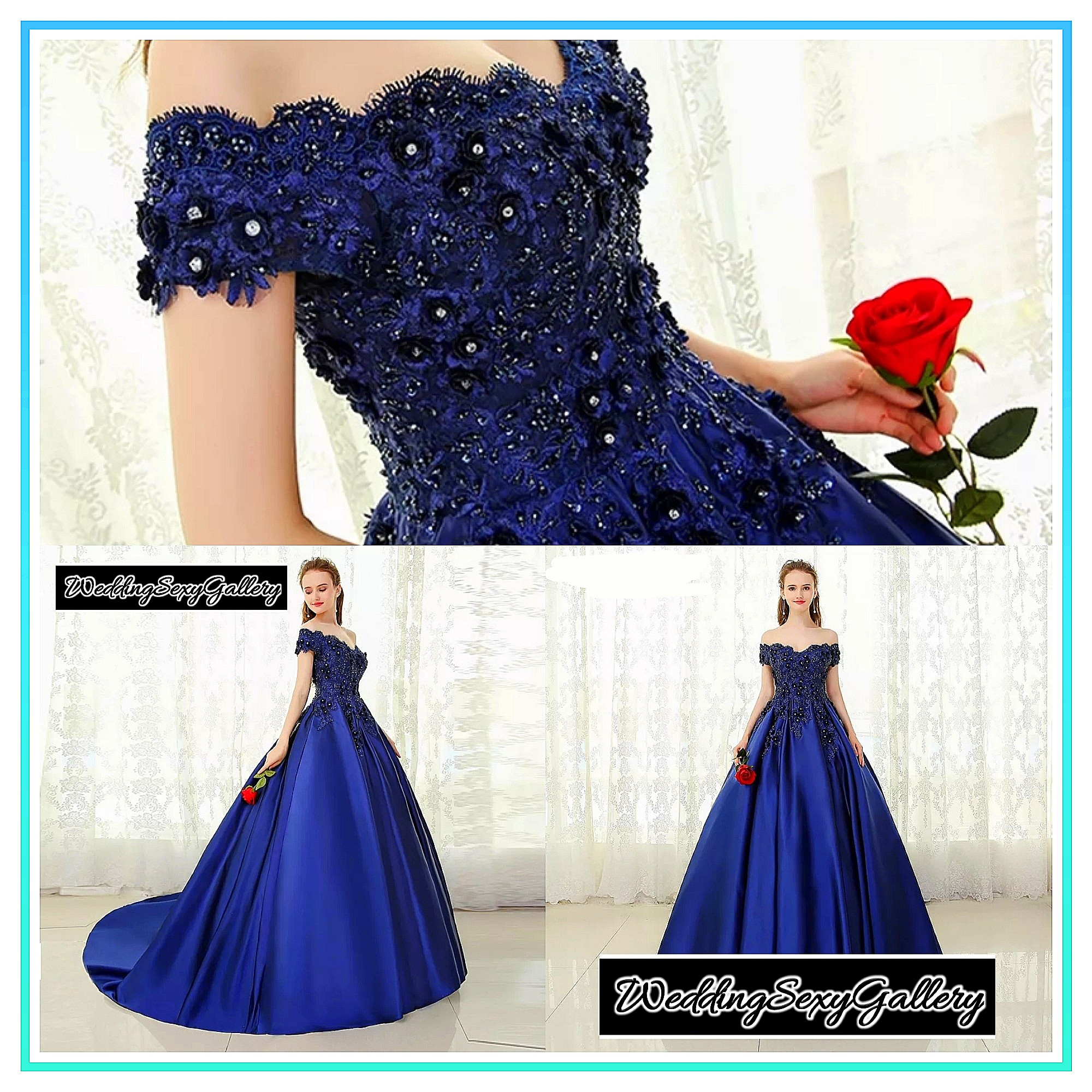 950c5429a2   04 🌹⏺🅿🅾⏺🌹BEPEITHY V-neck Navy Blue Long Evening Dress Lace Beaded  Vintage Prom Gowns Vestido De Festa Off The Shoulder Cheap Evening Gown
