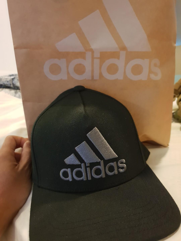 7562284a Adidas H90 Logo Cap (BNIB), Men's Fashion, Accessories, Caps & Hats ...
