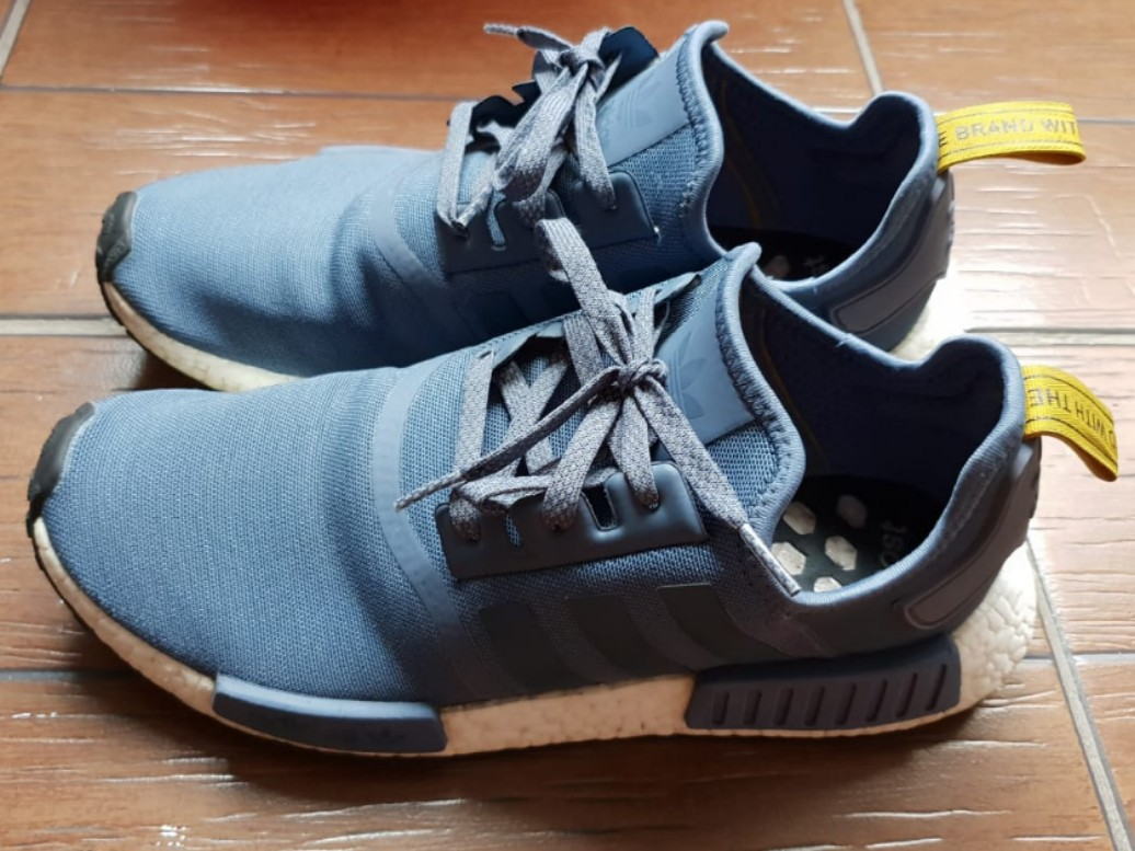 Adidas NMD tech ink white blue trainers UK 6.5
