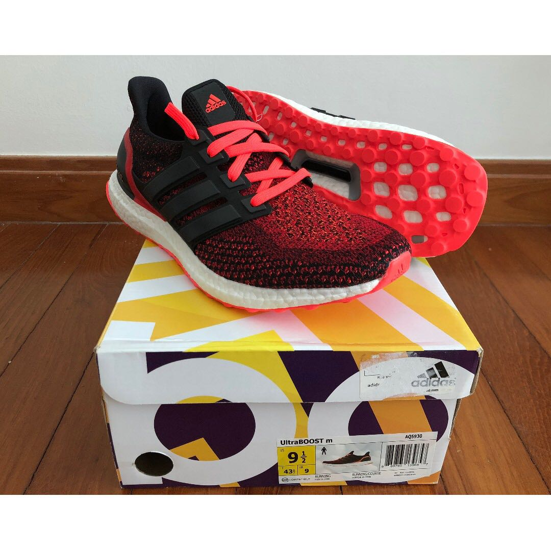 68fcce5dc3089 ONLY  290!!! RARE BNIB Adidas Ultra Boost Ultraboost 2.0 SOLAR RED ...