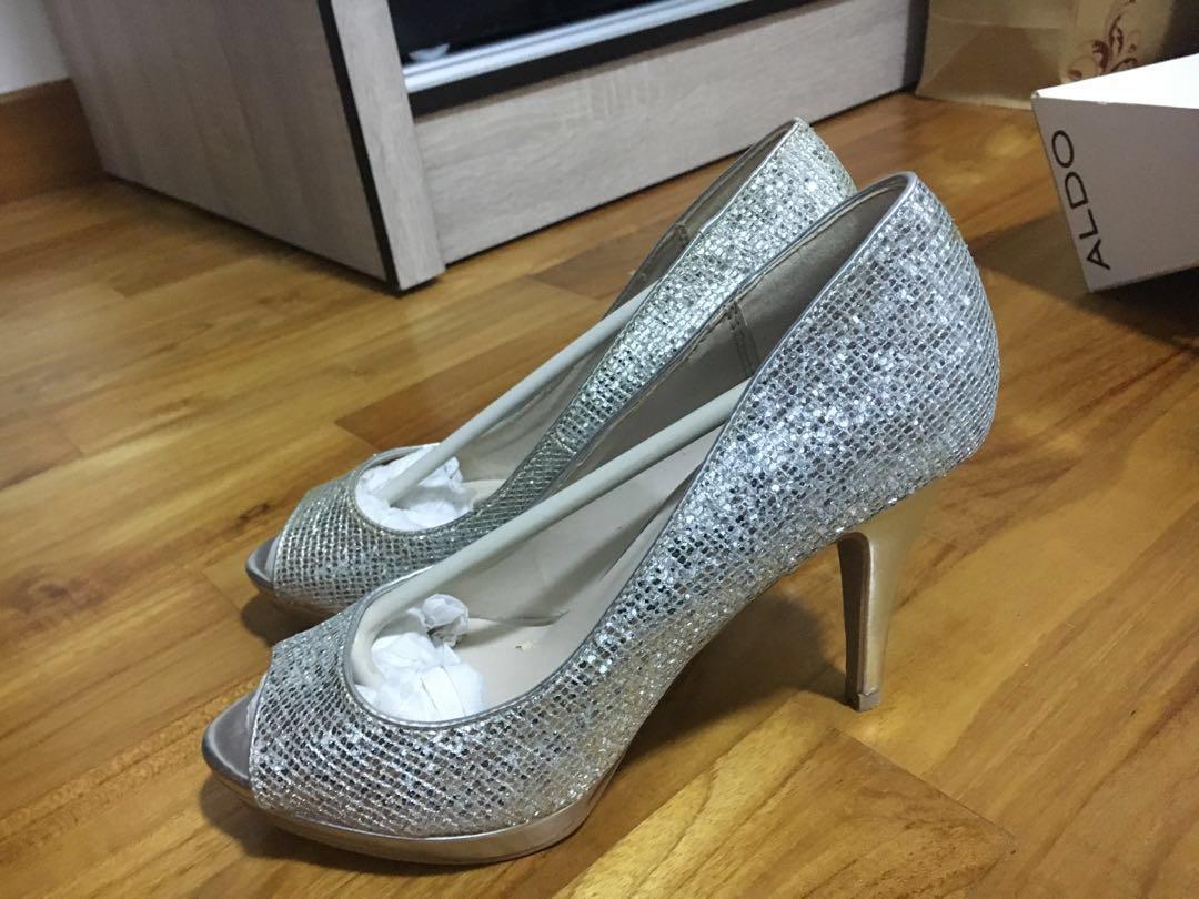 05f3353a3d9 Aldo - silver wedding heels