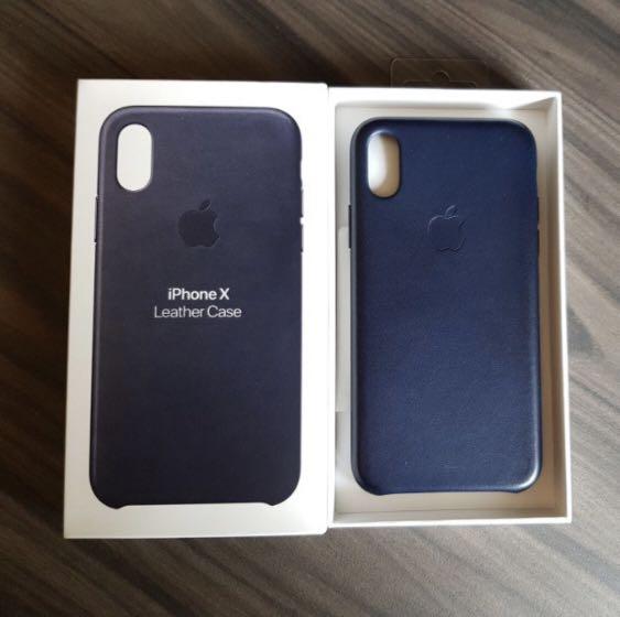low priced afbd3 ee818 Apple Iphone X Original Case Navy Blue