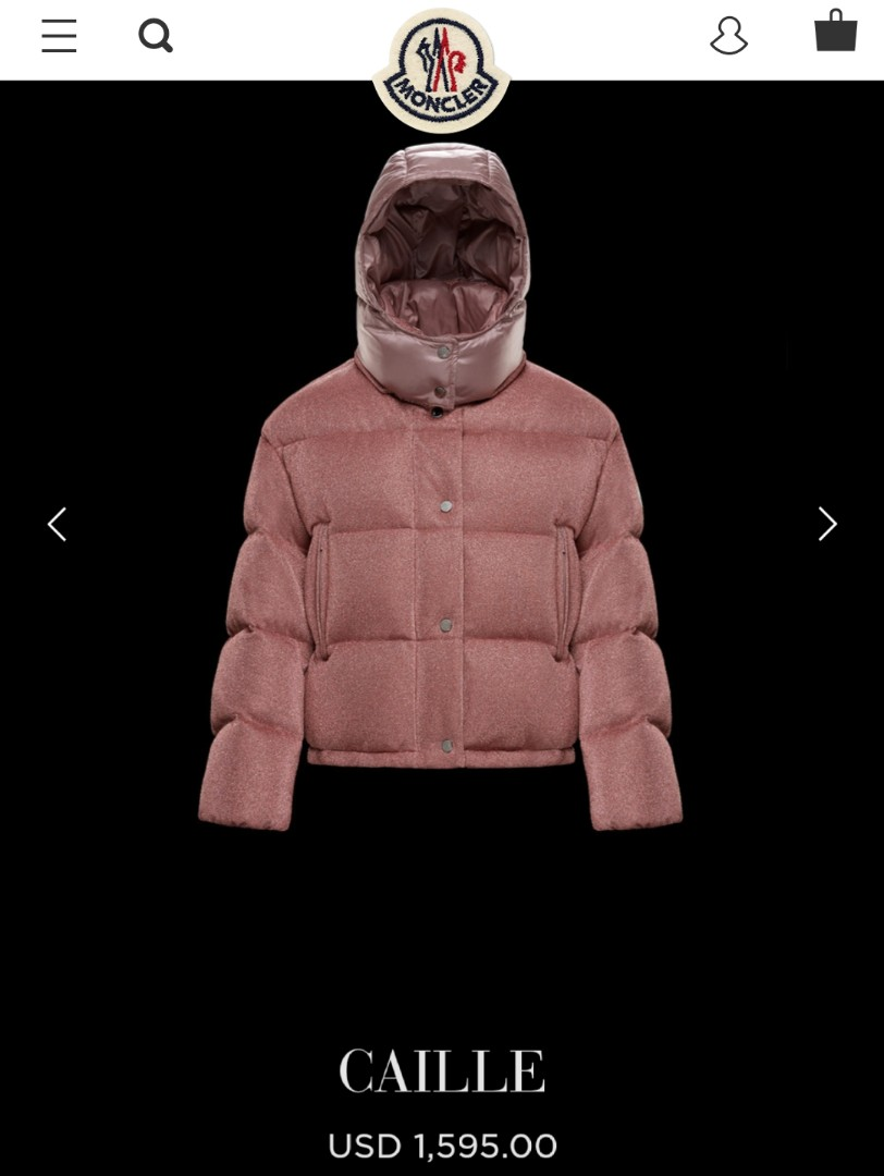 181e72571 Authentic Moncler Caille Metallic Puffer Coat Jacket with Removable ...