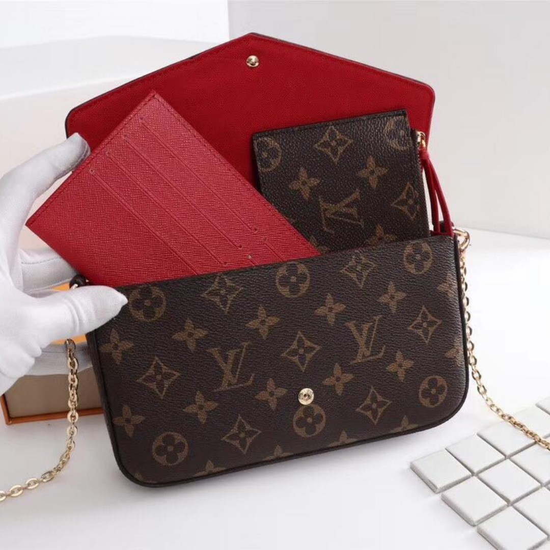 408379d4e744 Authentic Quality Louis Vuitton Sling Bag with Purse and Card Holder ...