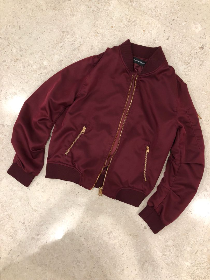 3cb8376eb Bomber Jacket in wine red