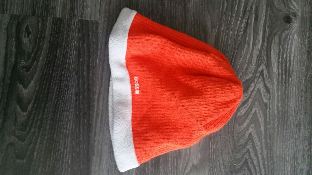 b55886241 Boss bright orange beanie