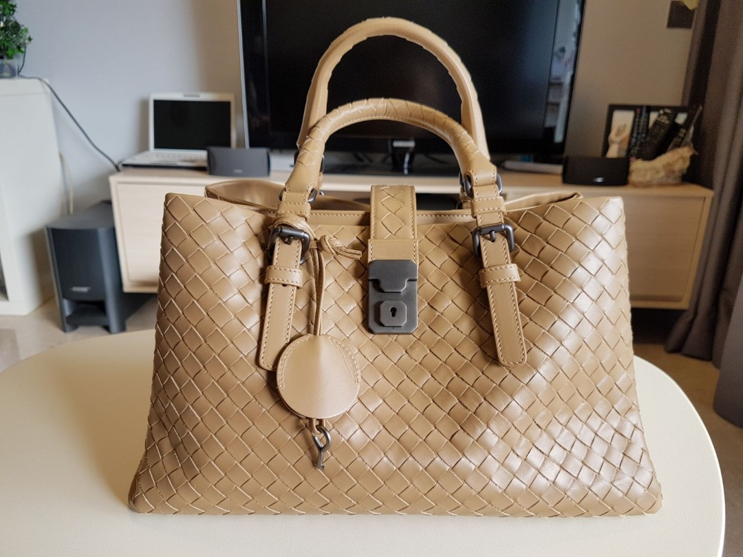 4618026df0 Bottega Veneta Roma Bag In Petale Intrecciato Calf - Brown