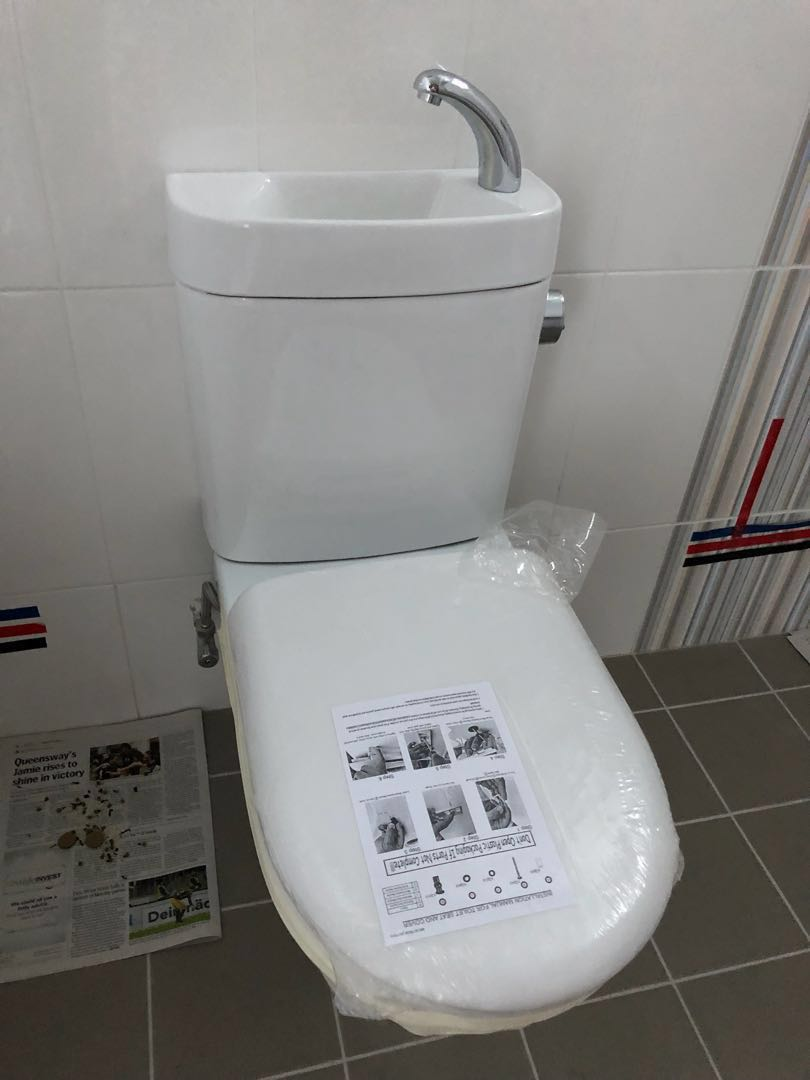 Brand New BTO toilet bowl with sink, Furniture, Others on Carousell