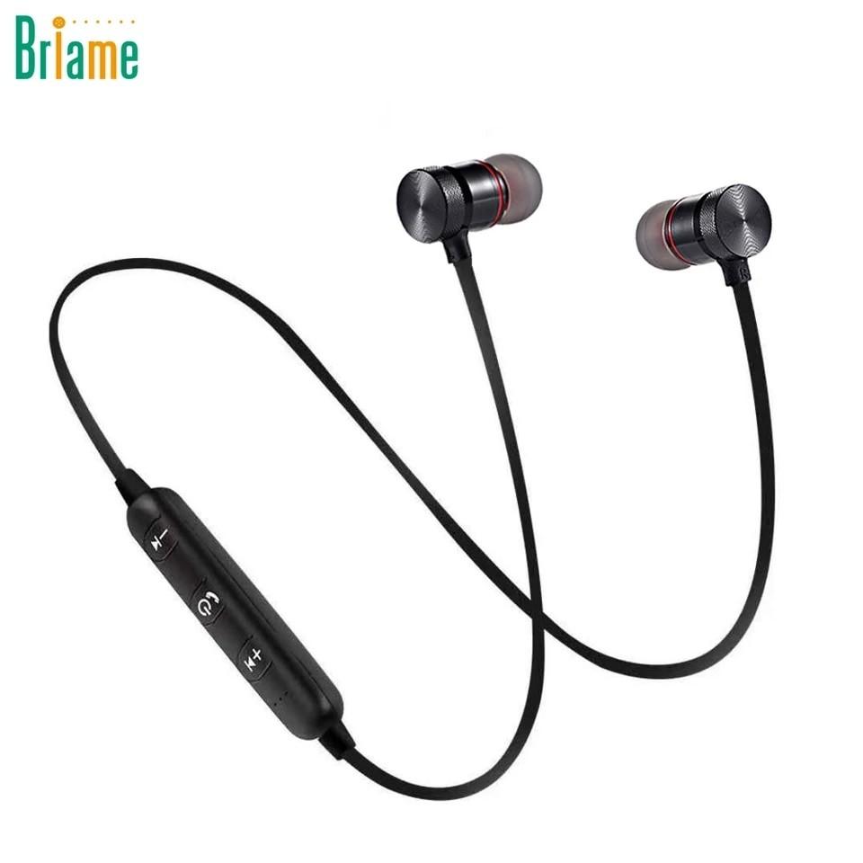 6341bf5e438 Briame Metal Sports Wireless Headphone Bluetooth Earphone Sweat ...