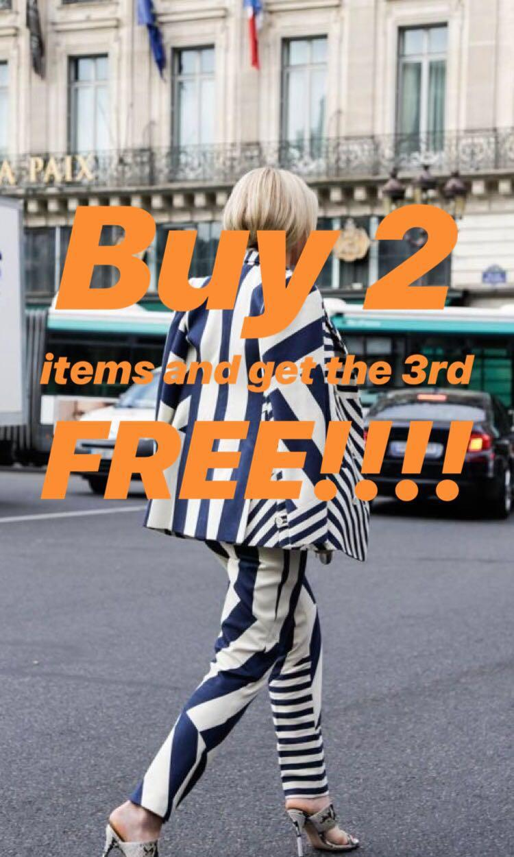 Buy 2 items and get the 3rd free!!