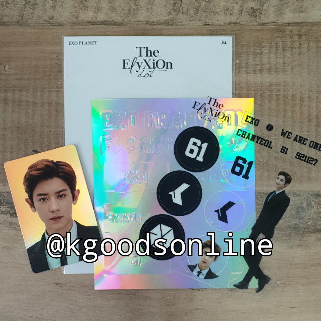 Official Chanyeol Exo Elyxion Dot Concert Deco Sticker Kit