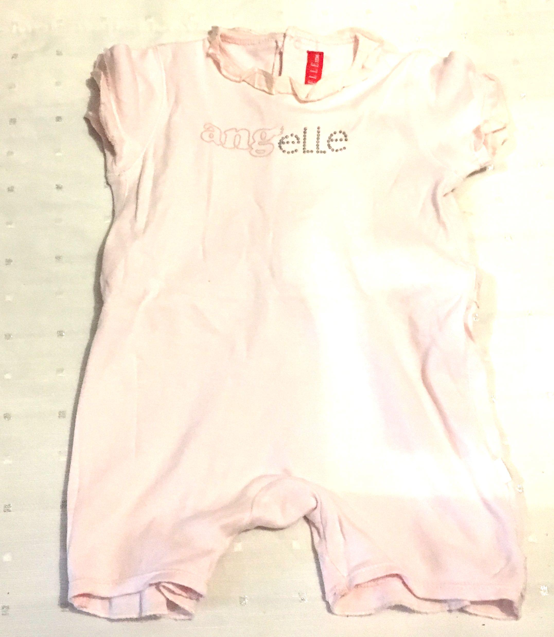 05cf96b8 Elle Baby Girl Angel Blush Pink Onesie Size 12 Months, Babies & Kids ...
