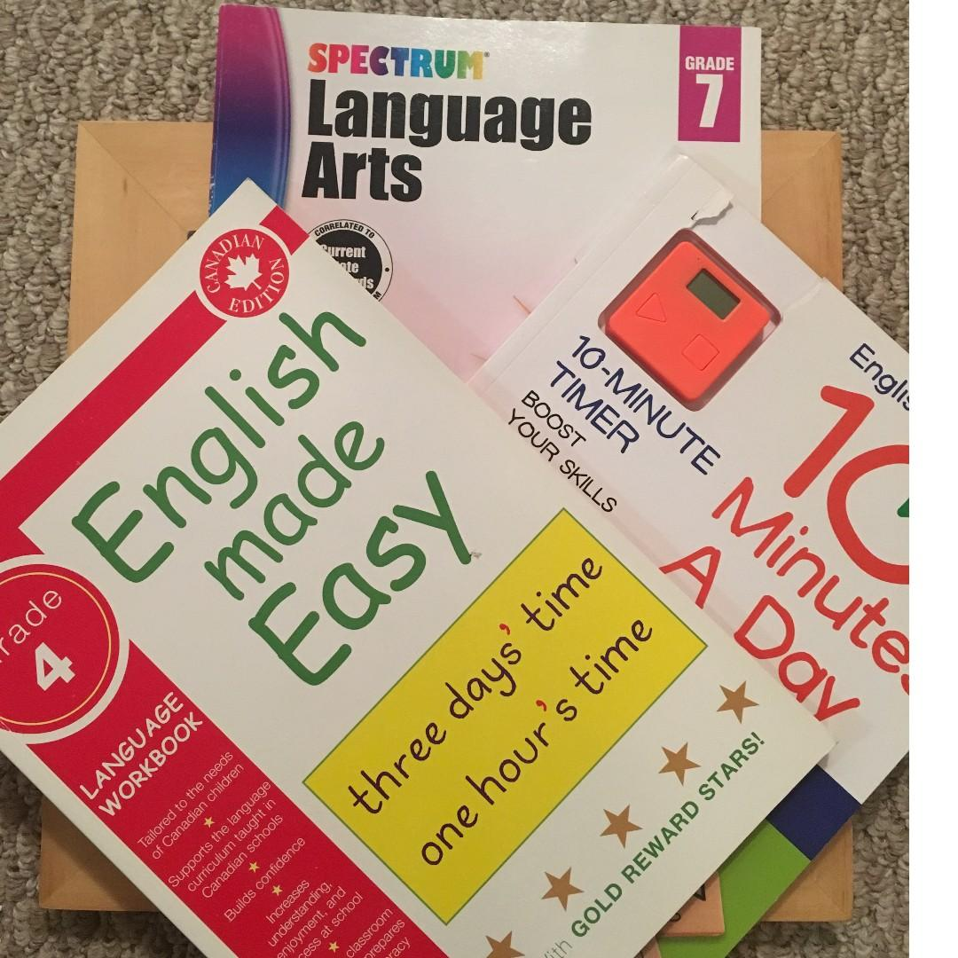English Made Easy Level 4, English Ten Minutes a Day Level 4, Language Level 7