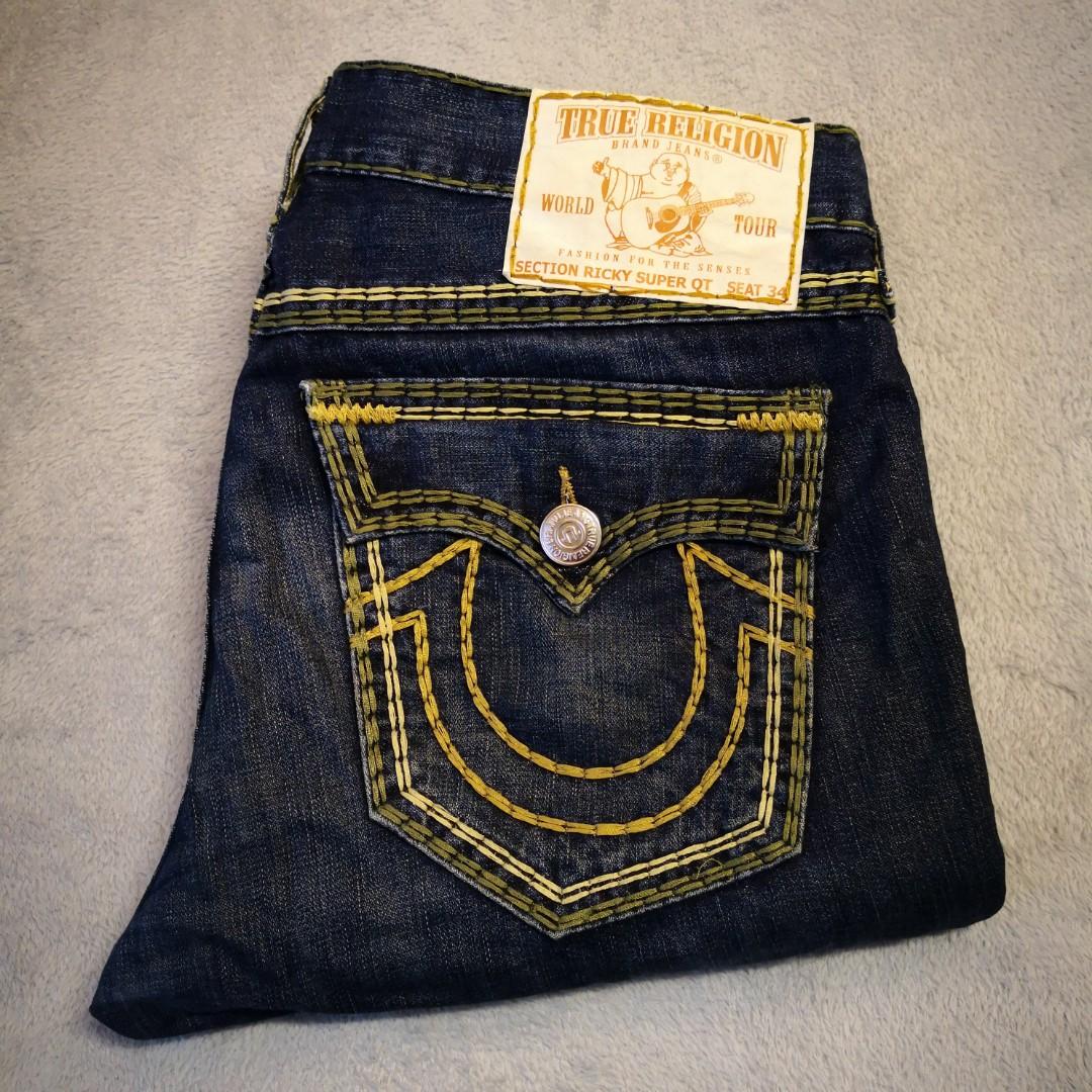 814fc1103 Genuine True Religion Jeans Ricky Super QT Signature.