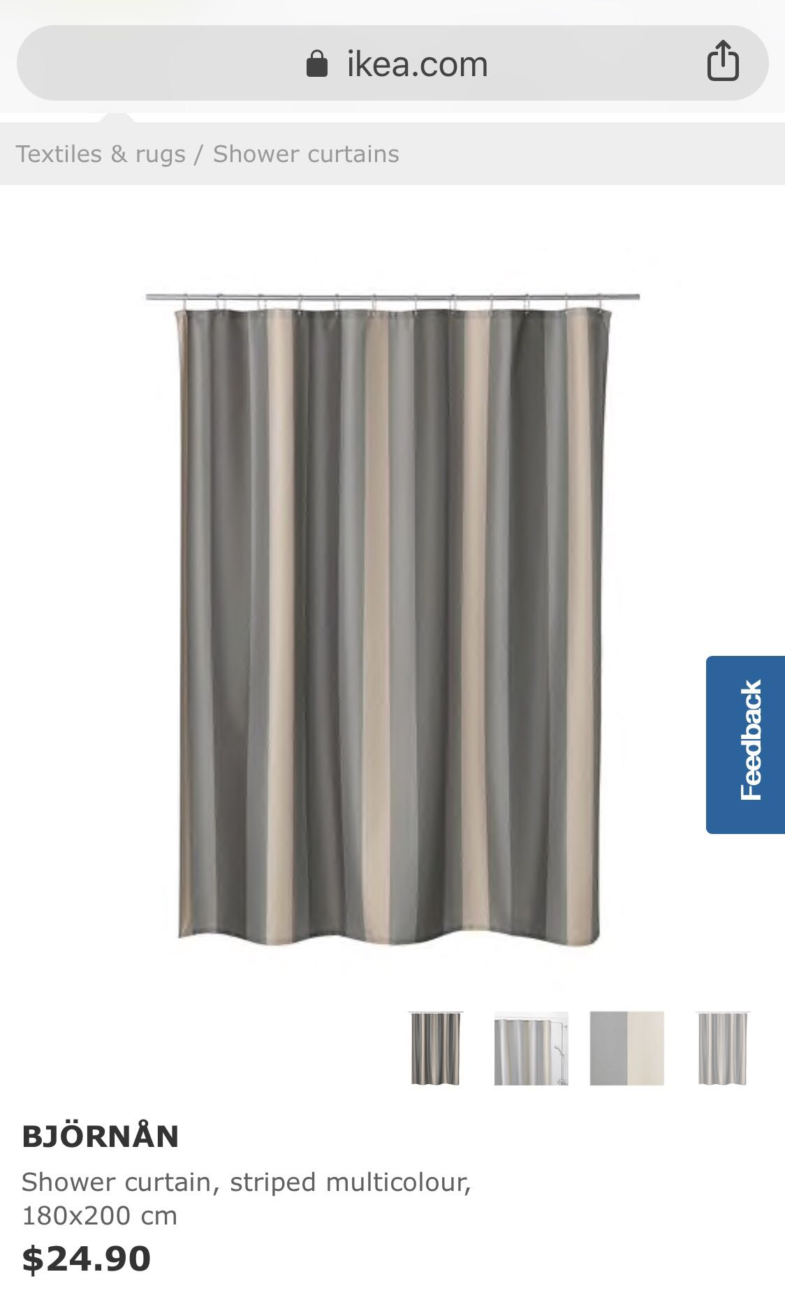 IKEA BJORNAN Shower Curtain Furniture Home Decor Others On Carousell