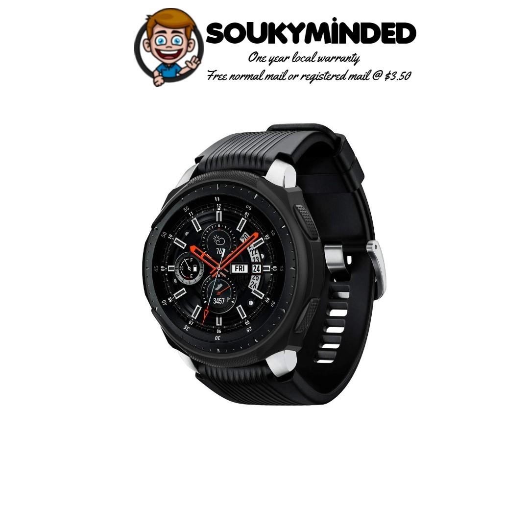 47b01411243 IN-STOCK  Spigen Liquid Air Armor Designed for Samsung Galaxy Watch ...