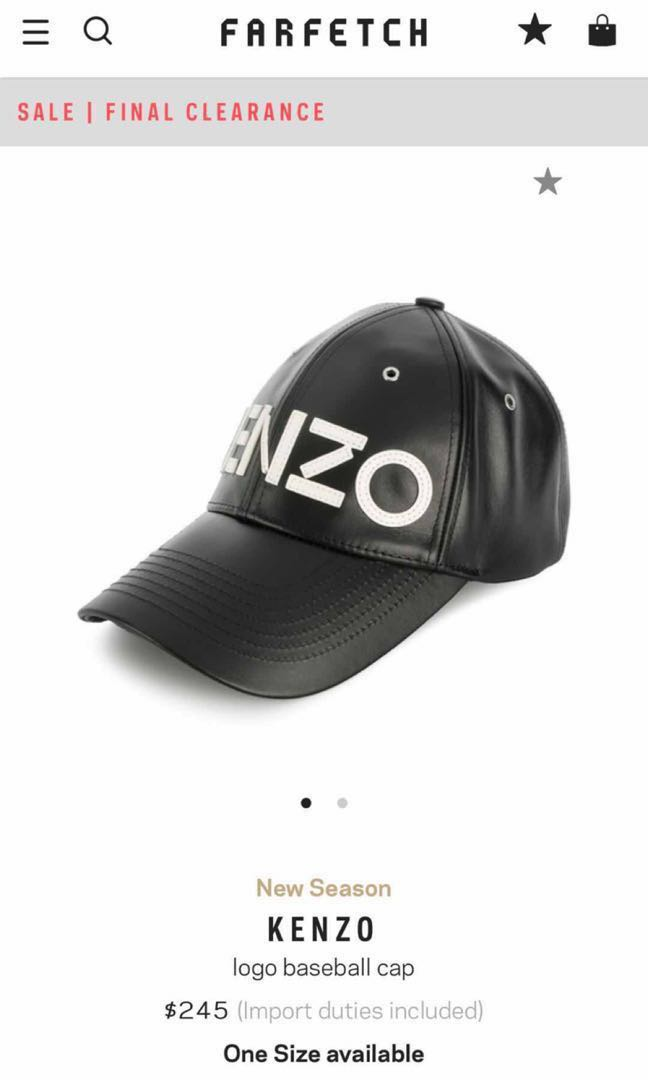 84be63e35a Kenzo logo baseball cap, Women's Fashion, Accessories, Caps & Hats ...