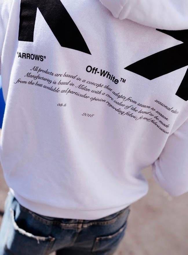 """2e5a0e882c5f L) Off White For All """"03"""" Arrow Hoodie"""