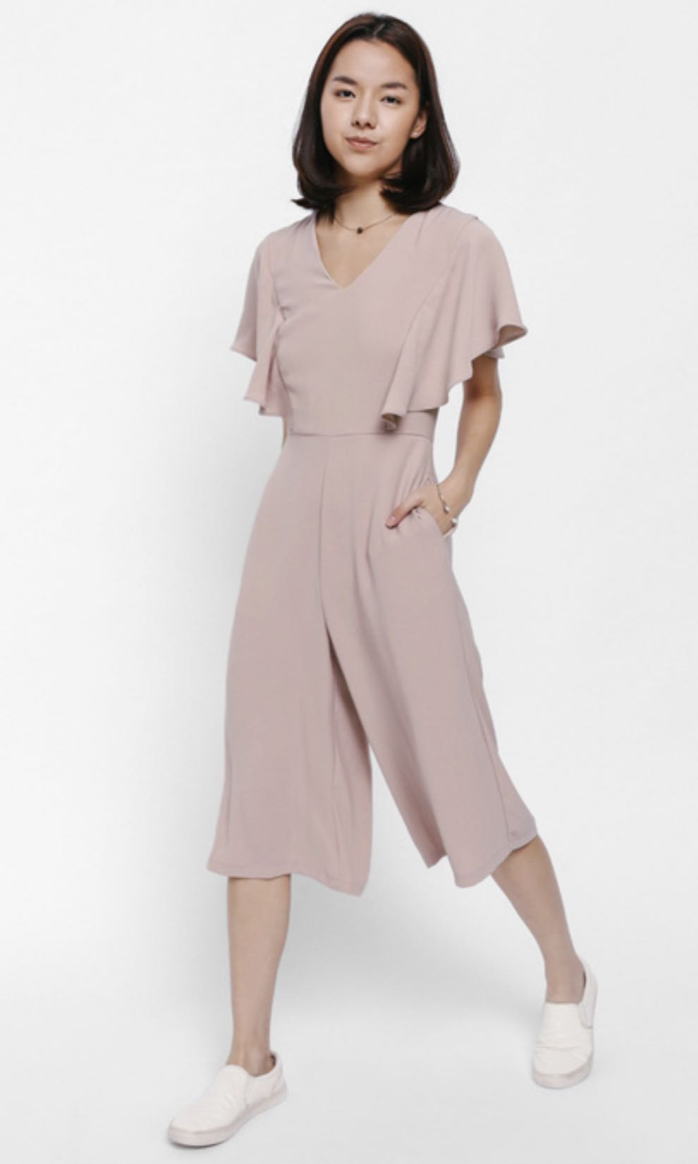 search for authentic new varieties sports shoes LB pale pink jumpsuit