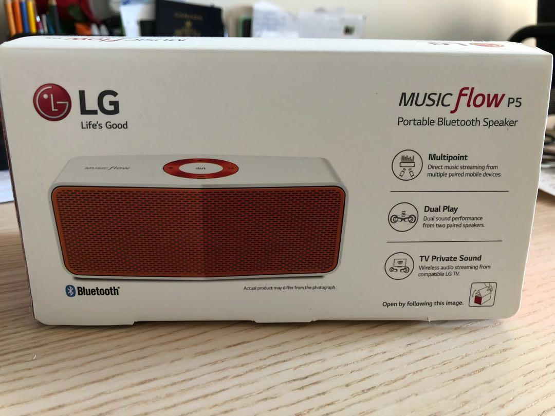 LG Electronics Music Flow P5 Portable Bluetooth Speaker