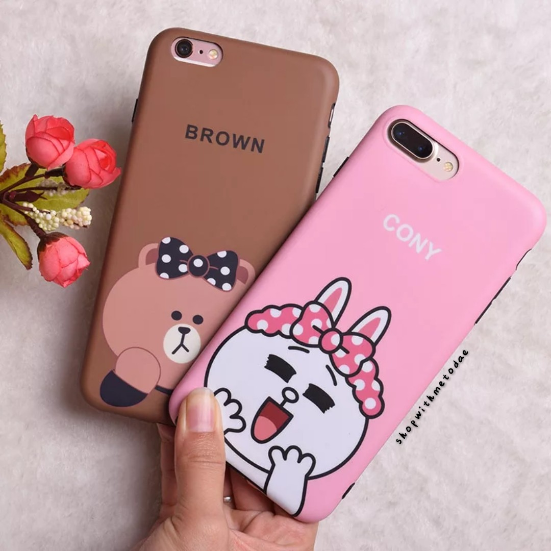new style 6ea7e 29a32 Cheeky Line Brown Cony Iphone X / 8plus / 7+ / 6S casing
