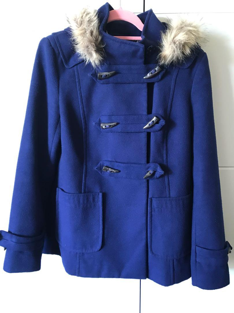 Navy Forever New coat size 8