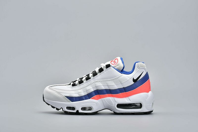 huge selection of a93d9 f8160 Nike Air Max 95 White Blue Red, Women s Fashion, Shoes, Sneakers on  Carousell