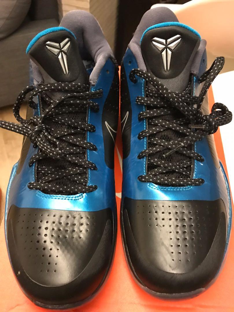 cheap for discount afc2b d883f Nike Zoom Kobe V 5 Dark Knight Black Grey Neptune Blue Silver (New) - Size  US10