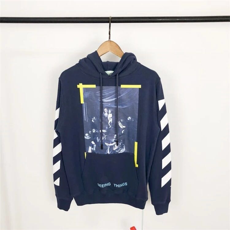 aad990a4c502 Off White 2017 Caravaggio Blue Hoodie